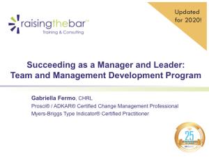 Team and Management Development Program Overview